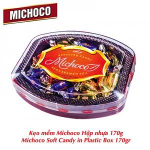 Kẹo mềm Michoco hộp nhựa bầu dục 170 gam