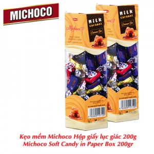 Kẹo mềm Michoco hộp giấy lục giác 200 gam