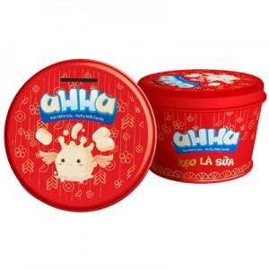 Kẹo sữa mềm hộp thiếc aHHa Đỏ 150 gam