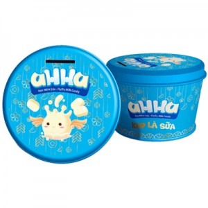 Kẹo sữa mềm hộp thiếc aHHa Xanh 150 gam