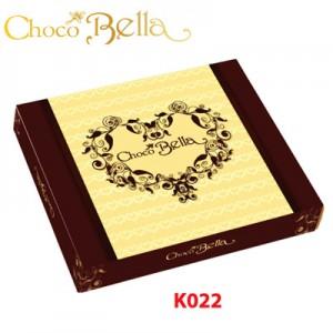 Hộp giấy Trái tim Chocobella 50 gam (Nền Nâu)