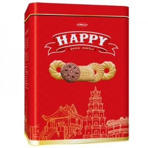 Bánh hỗn hợp hộp thiếc Happy Hà Nội - Huế - Sài Gòn 600 gam