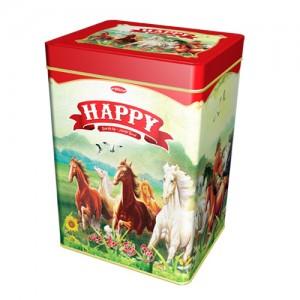 Bánh hỗn hợp hộp thiếc Happy Mã Đáo Thành Công 600 gam