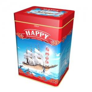Bánh hỗn hợp hộp thiếc Happy Thuận Buồm Xuôi Gió hộp thiếc 600 gam