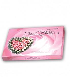 Hộp giấy Trái tim Chocobella 100 gam (Hoa hồng)