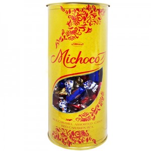 Kẹo mềm Michoco hộp nhựa trụ tròn 300 gam