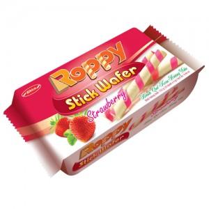 Bánh Quế kem Dâu Roppy túi 132 gam