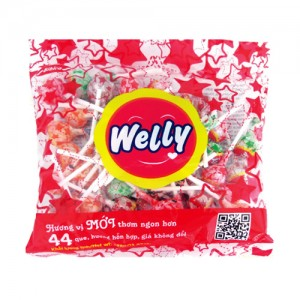 Kẹo Mút Welly hương hỗn hợp 396 gam