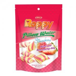 Bánh Quế kem hương Dâu túi Zip 75 gam
