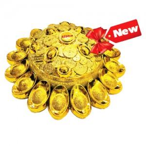 Kẹo cứng Phát Tài hộp nhựa Mâm Vàng 99 gam