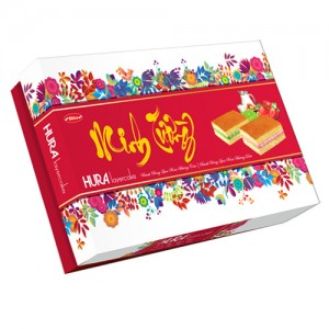 Bánh bông lan Hura Layer Cake Minh Tường hương Cốm-Dâu 330 gam