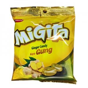 Kẹo cứng Migita Gừng túi 140 gam
