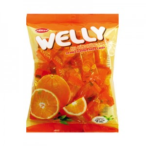 Kẹo cứng Welly Cam túi 90 gam