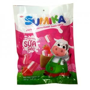 Kẹo mềm Sumika Sữa Dâu túi 140 gam