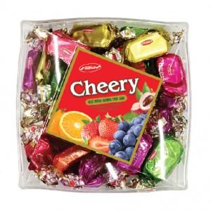 Kẹo mềm Cheery hộp nhựa Vuông chéo 150 gam