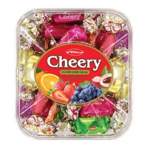 Kẹo mềm Cheery hộp nhựa Vuông 150 gam