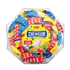 Kẹo mềm ChewGum hộp nhựa kim cương 200g