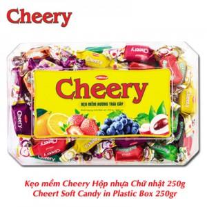 Kẹo mềm Cherry hộp nhựa Chữ nhật 250 gam