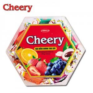 Kẹo mềm Cherry hộp nhựa Lục Giác 170 gam