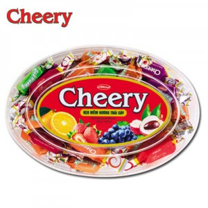 Kẹo mềm Cherry hộp nhựa Oval 150 gam